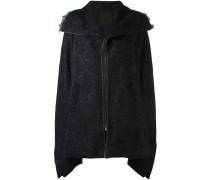 Oversized-Mantel mit Reißverschluss
