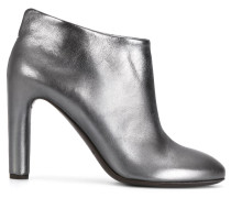 metallic heeled shoes