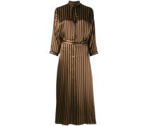 - Langes Seidenhemdkleid mit Streifen - women