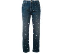 Jeans mit Perlenverzierungen
