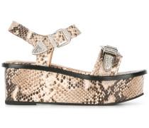 Flatform-Sandalen mit Prägung