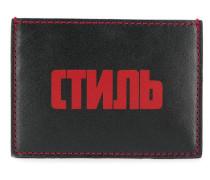 Kartenetui mit Logo-Patch