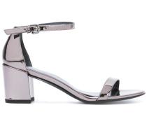 Metallic-Sandalen aus Lackleder - women