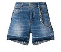 Jeans-Shorts im Distressed-Look