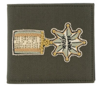 Garavani badge embroidered wallet