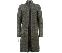 Gesprenkelter Mantel mit Reißverschluss
