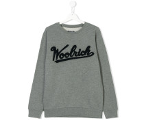 Teen flocked logo sweatshirt