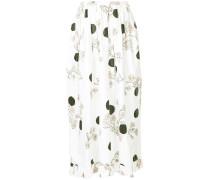 floral and polka dot print skirt