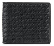 woven bi-fold wallet