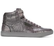 High-Top-Sneakers aus Krokodilleder