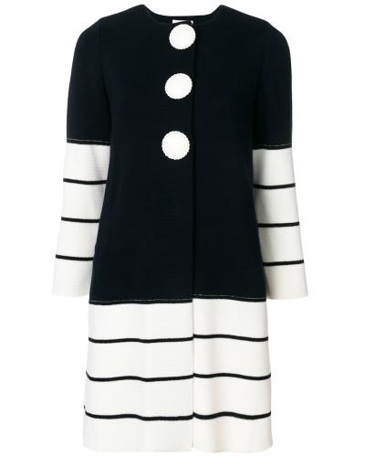 striped knit coat
