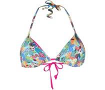 leaf-print bikini top