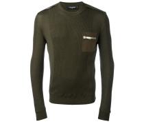 Wollpullover mit Brusttasche - men - Wolle - M