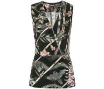 v-neck print blouse