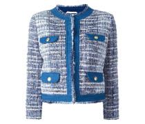 Tweed-Jacke mit ungesäumten Kanten