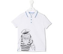 Poloshirt mit Walross-Print - kids - Baumwolle