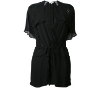 - flared playsuit - women - Polyester/Viskose - 38