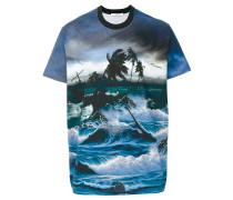T-Shirt mit Hawaii-Print