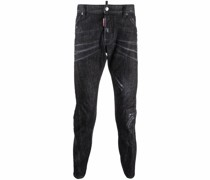 Tapered-Jeans im Distressed-Look