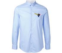 - Hemd mit Logo-Patch - men - Baumwolle/Elastan
