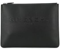 Clutch mit Logo-Prägung