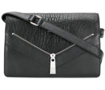 zip detail shoulder bag