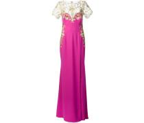 Kleid mit Blumenstickereien