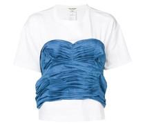 T-Shirt mit gerafftem Detail