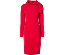 tie collar fitted dress