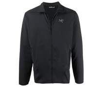 logo-embroidered sports jacket