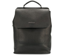 embossed logo backpack
