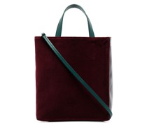 multicoloured Museo leather tote bag