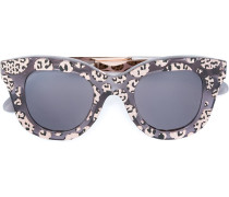 Sonnenbrille mit Leoparden-Print