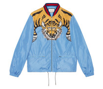 tiger print lightweight jacket