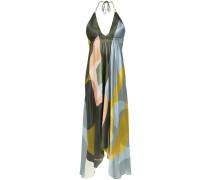 printed halterneck dress