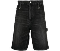 Dunkle Jeans-Shorts