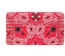 Tweed-Portemonnaie mit Bandana-Muster