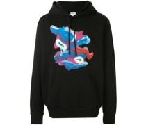Fools Tongue print hoodie