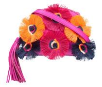 floral embellishment crossbody bag