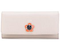 Portemonnaie mit floraler Applikation