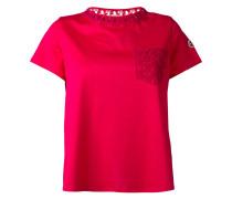 T-Shirt mit Spitzen-Brusttasche
