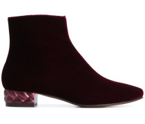 textured heel ankle boots