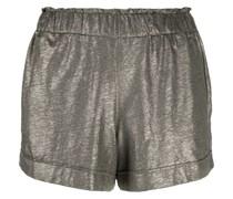 Metallic-Shorts mit Paperbag-Taille