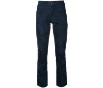 Schmale Jeans mit Print
