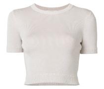 Geripptes Cropped-T-Shirt