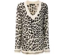 embellished leopard print jumper