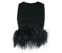 feathered blouse