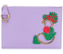 flower appliqué wallet