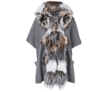 fox fur trim cardigan