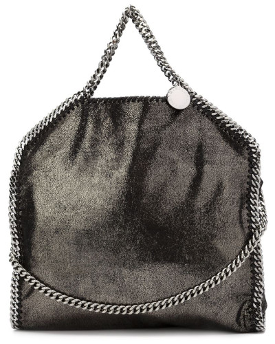 stella mccartney damen 39 falabella 39 handtasche im metallic look reduziert. Black Bedroom Furniture Sets. Home Design Ideas